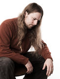 Long-haired man Royalty Free Stock Images