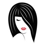 Long haired woman. Royalty Free Stock Photo