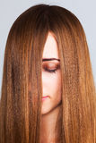 Long haired woman Royalty Free Stock Photography