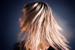 Long hairs in a motion.  Stock Photo