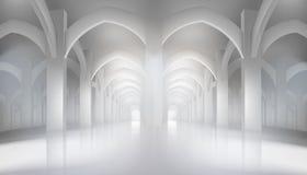 Long hall dans l'intérieur historique Illustration de vecteur illustration stock