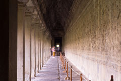 Long Halls of Angkor Royalty Free Stock Photography