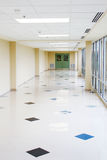 Long hallway. Long empty hallway with bright windows Stock Images