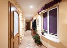 Long hallway. A long hallway of a house, panorama royalty free stock photos