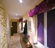 Long hallway. A long hallway of a house royalty free stock photos