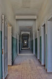 Long Hallway. Hallway of the former hospital of Kolmanskop, Namibia Royalty Free Stock Photos
