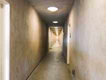 Long stucco interior hall in a building Royalty Free Stock Photography