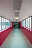 Long hallway in red Stock Photos