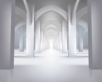 Long hallway. Vector illustration. Royalty Free Stock Images