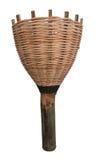 Long-handled fruit-picker wicker. On white background Royalty Free Stock Photo