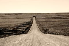Long Hard Road royalty free stock images