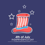 Long hat for American Independence Day celebration. Royalty Free Stock Image