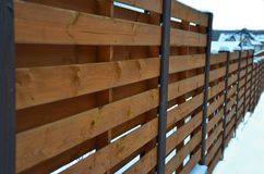 Outlook of the wooden fence stock photo