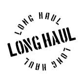 Long Haul rubber stamp Royalty Free Stock Image