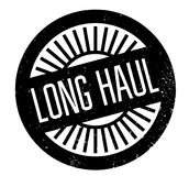 Long Haul rubber stamp Royalty Free Stock Images