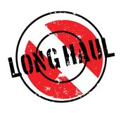 Long Haul rubber stamp Stock Images