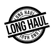 Long Haul rubber stamp Royalty Free Stock Photos