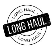 Long Haul rubber stamp Royalty Free Stock Photo