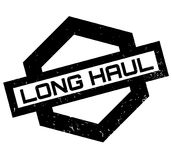 Long Haul rubber stamp. Grunge design with dust scratches. Effects can be easily removed for a clean, crisp look. Color is easily changed Stock Photography