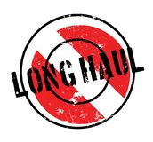Long Haul rubber stamp. Grunge design with dust scratches. Effects can be easily removed for a clean, crisp look. Color is easily changed Royalty Free Stock Image
