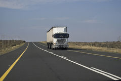 Long Haul Transport - Lonely Road Stock Image
