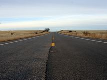 Long Highway. Long straight section of a highway Stock Photography