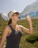 After a long hike Stock Photography