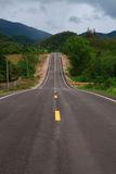 Long hilly road Stock Photo