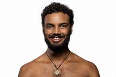 Long hippie de barbe et de moustache Photos libres de droits