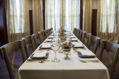 Long holiday table Royalty Free Stock Photography