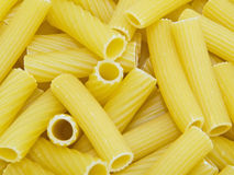 Long hollow tube shaped Pasta. Stock Images