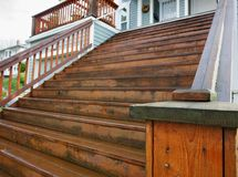 Long Home wood stairs Royalty Free Stock Photos