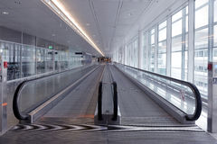 Long horizontal escalator Royalty Free Stock Images