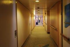Hotel corridor Stock Images