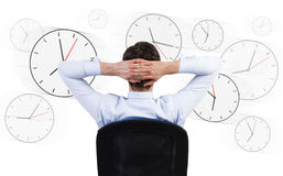 Long hours of work stock image