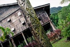 Long house in Sarawak Stock Photography