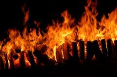 Long incendie Photos libres de droits