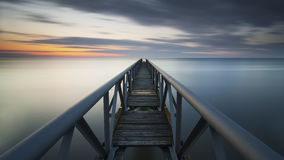 Long industrial pier Stock Photography