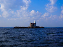 Long Island φάρων βράχων εκτέλεσης Στοκ εικόνες με δικαίωμα ελεύθερης χρήσης