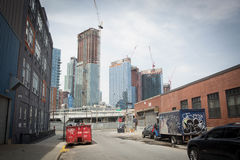 Long island city construction Royalty Free Stock Images