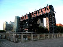 Long Island City at Gantry Plaza State Park Royalty Free Stock Images