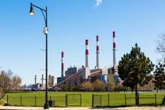 Ravenswood Generating Station. Long Island City, New York. April 10, 2016. Ravenswood Generating Station is a 2,480 megawatt power plant in Long Island City in stock photo