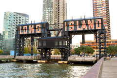 Long Island city pier, New York royalty free stock images