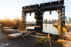Long Island City. Pier, New York royalty free stock photo