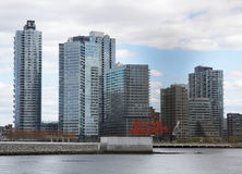 Long Island City  Queens  skyline Stock Photos