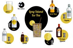 Long Island-coca royalty-vrije illustratie