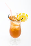 Long island cocktail. Long Island iced tea cocktail on a white background stock photos
