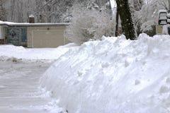 Long Island-de stapelsvoeten van het Sneeuwonweer sneeuw ter plaatse Royalty-vrije Stock Foto