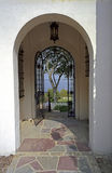 Long Island Estate Doorway Royalty Free Stock Images