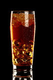 Long island fresh Coctail isolated on black Royalty Free Stock Photography